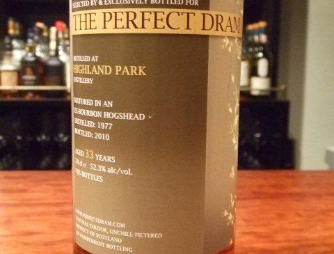 """ウイスキーエージェンシー""""The Perfect Dram""""ハイランドパーク33年 52.3%"""