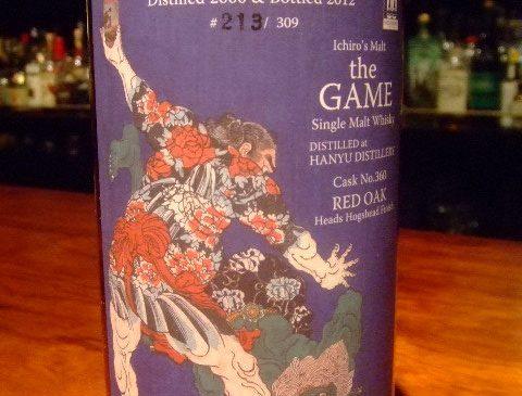 """信濃屋オリジナル イチローズモルト""""the GAME""""羽生12年 Red Oak Heads Hogshead Finish 57.5%"""