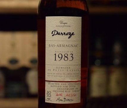 ダローズ ・ドメーヌ・ ド・ プティ ラシス 1983  バコ  For Speyside Way 20Y.O. joint Bar Caruso, FRENCH MONSTAR & SHINANOYA 45%