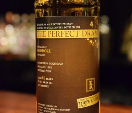 """ウイスキーエージェンシー""""The Perfect Dram"""" for THREE RIVERS   ボウモア 16年 54.4%"""